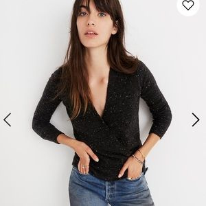 Madewell donegal wrap sweater size S